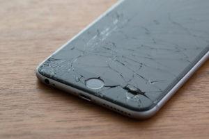 Tela iPhone quebrada